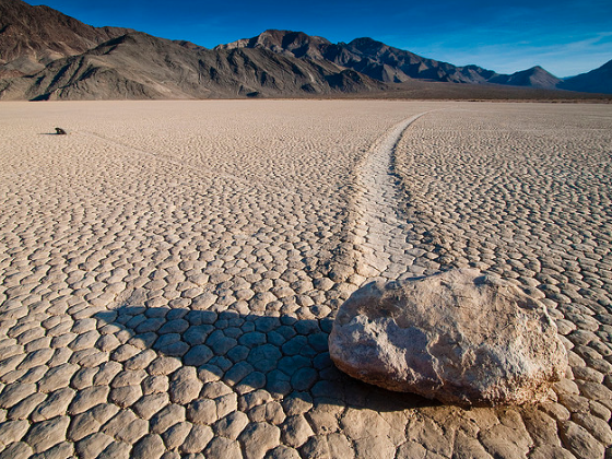 The Wandering Stones of Death Valley, California