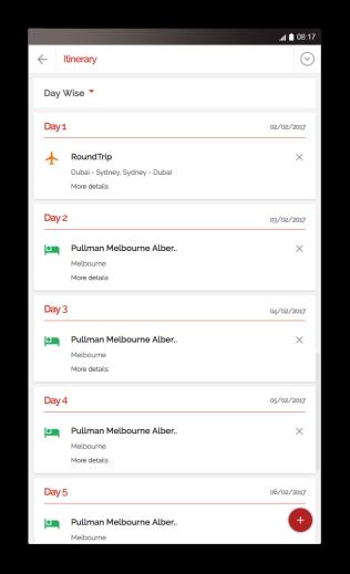 Mytripkarma itinerary