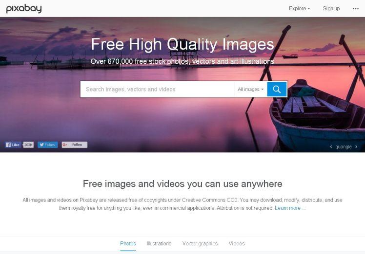 Pixabay stock image library